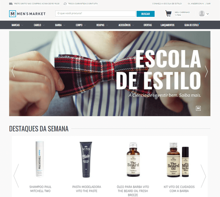 E-commerce MensMarket